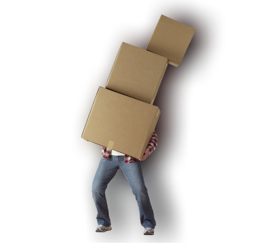 Person buckling under the weight of returns