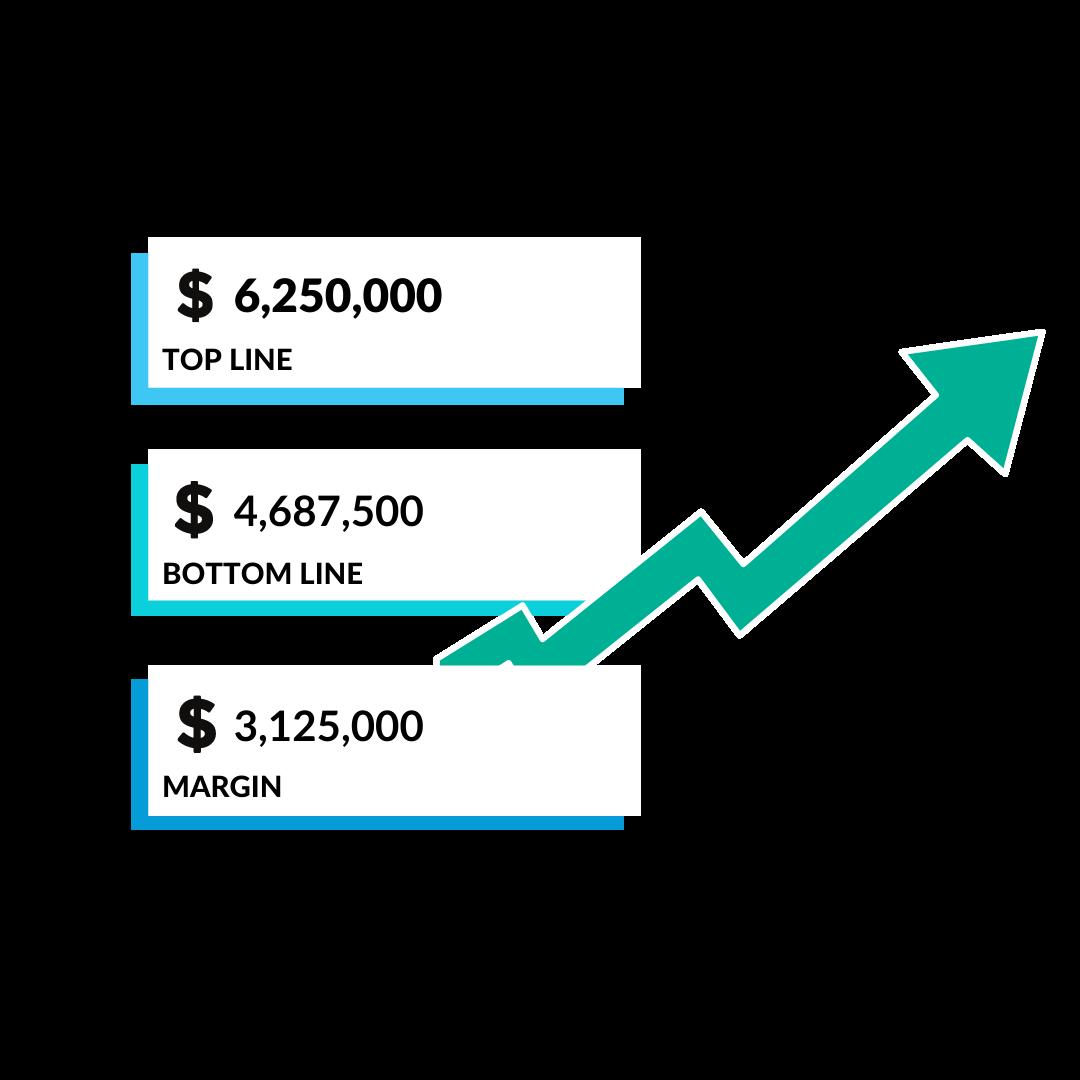 Returns Calculator Results for 250M Retailer